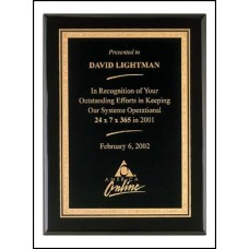Black Stained Piano Finish Plaque